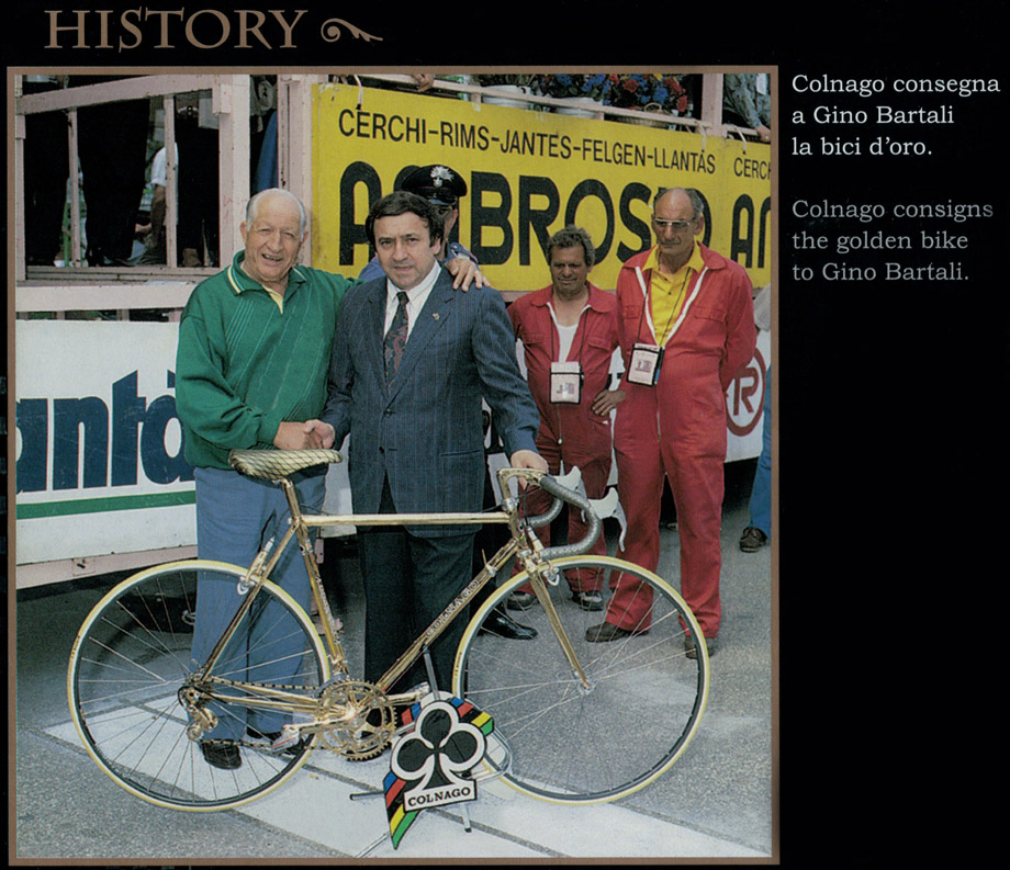 Luxury ernesto colnago gift for gino bartali 24k gold for Fenetre overton